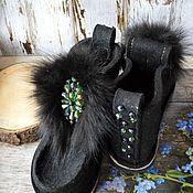 """Обувь ручной работы. Ярмарка Мастеров - ручная работа Валенки """"Изумруд"""". Handmade."""