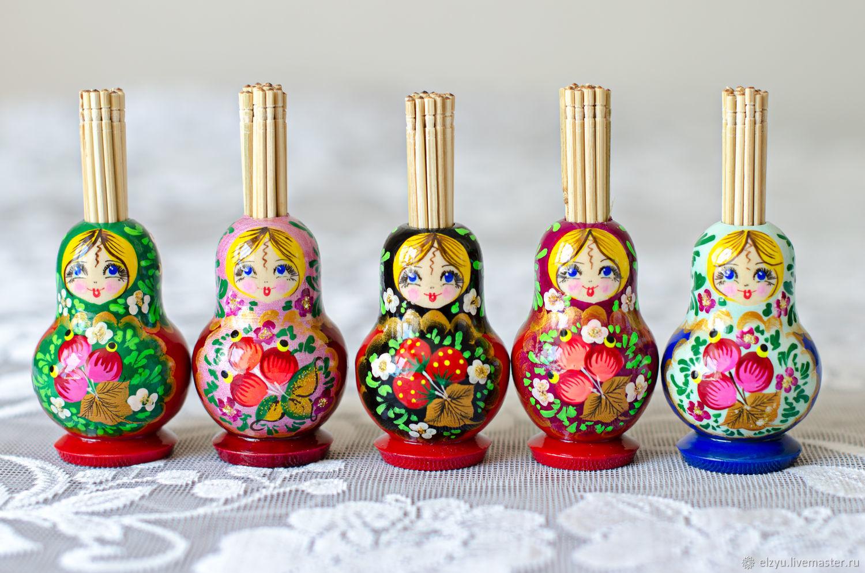 Matryoshka, samovar, toothpick, Dolls1, Nizhny Novgorod,  Фото №1