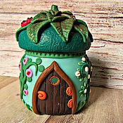 Посуда handmade. Livemaster - original item A little House for Fairies decor polymer clay. Handmade.