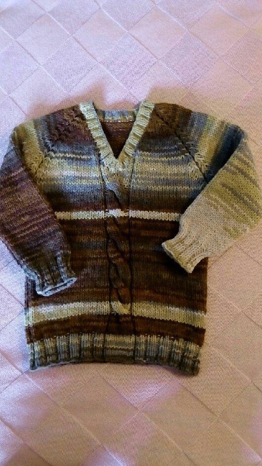 Кофты и свитера ручной работы. Ярмарка Мастеров - ручная работа. Купить Вязаный джемпер. Handmade. Джемпер для мальчика, Вязание на спицах