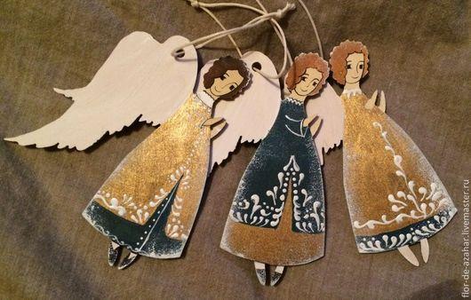 Новый год 2017 ручной работы. Ярмарка Мастеров - ручная работа. Купить Ангел снежный - три вида. Handmade. Ангел, рождество