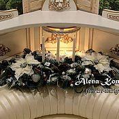 Свечи ручной работы. Ярмарка Мастеров - ручная работа Новогодняя композиция со свечами, искусственными цветами.. Handmade.