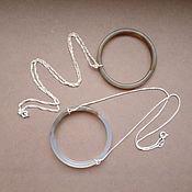 Украшения ручной работы. Ярмарка Мастеров - ручная работа Крупное агатовое кольцо на цепочке из серебра 925 пр., минимализм. Handmade.