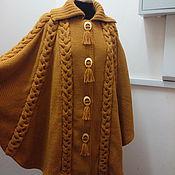 Одежда ручной работы. Ярмарка Мастеров - ручная работа Пончо цвета Горчицы. Handmade.