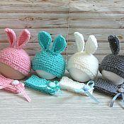Одежда для кукол ручной работы. Ярмарка Мастеров - ручная работа Шапочка- зайчик с закругленными ушками, овечки, мишки. Handmade.