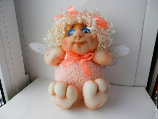 Сказочные персонажи ручной работы. Ярмарка Мастеров - ручная работа. Купить Ангелочек Варюша. Handmade. Бледно-розовый, интерьерная кукла