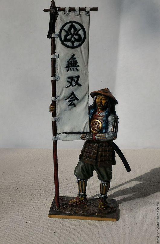 Миниатюра ручной работы. Ярмарка Мастеров - ручная работа. Купить Асигару-знаменосец, 1600 год. Handmade. Комбинированный, оловянная миниатюра