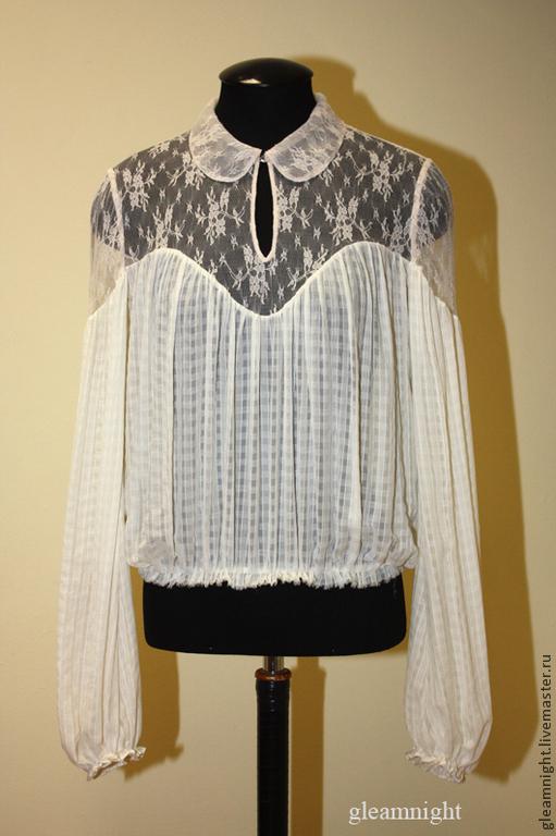 Шелковая блузка для лета