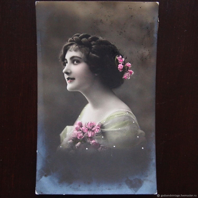 Дореволюционные открытки женщины, открытки для коллег