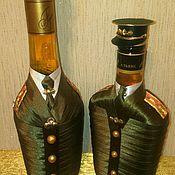 Подарки к праздникам ручной работы. Ярмарка Мастеров - ручная работа Декор бутылок в форме. Handmade.