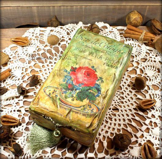 """Кухня ручной работы. Ярмарка Мастеров - ручная работа. Купить Чайная шкатулка """" Рaris rose"""". Handmade. Зеленый"""