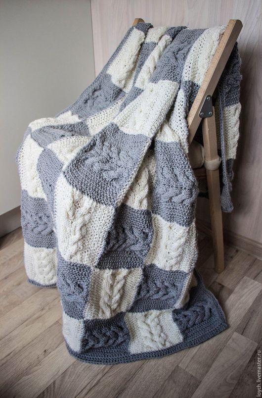 """Текстиль, ковры ручной работы. Ярмарка Мастеров - ручная работа. Купить Плед-покрывало """"Роскошные Косы"""". Handmade. Плед, подарок"""