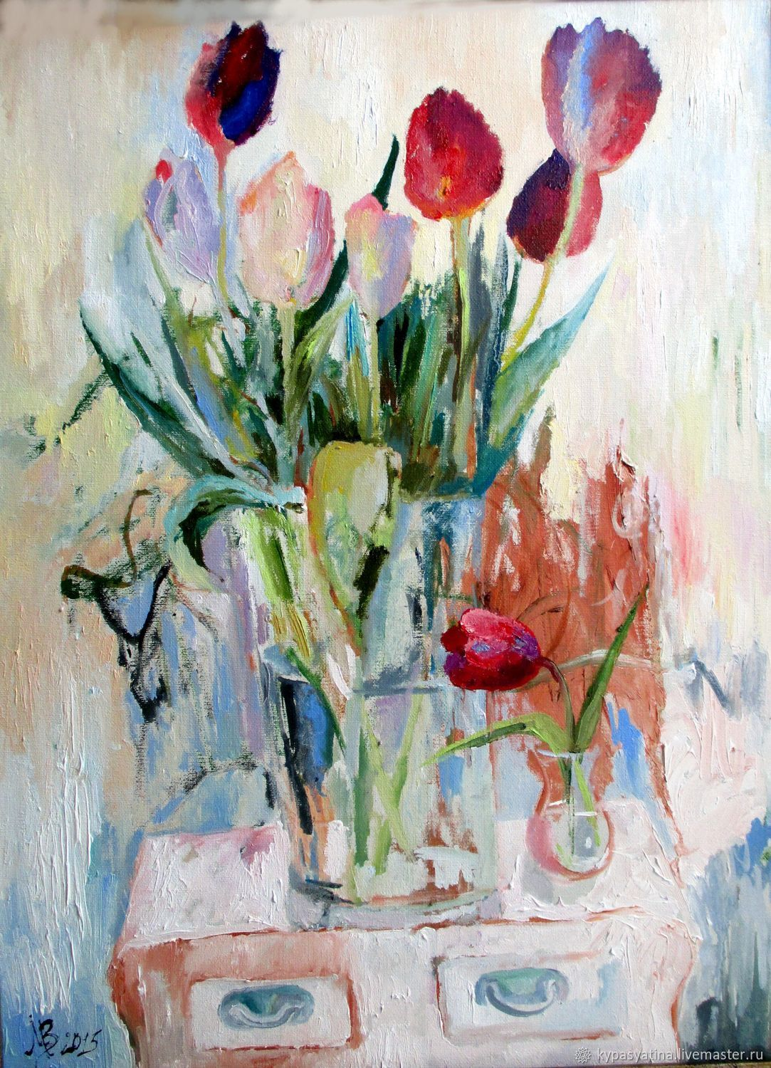 Oil painting 'the March of the tulips', Pictures, Krasnoyarsk,  Фото №1