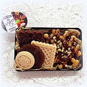 Мыло ручной работы. Ярмарка Мастеров - ручная работа Печенье с вафлей набор мыла ручной работы в подарок. Handmade.