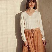 Одежда handmade. Livemaster - original item Cashmere jumper Classy. Handmade.