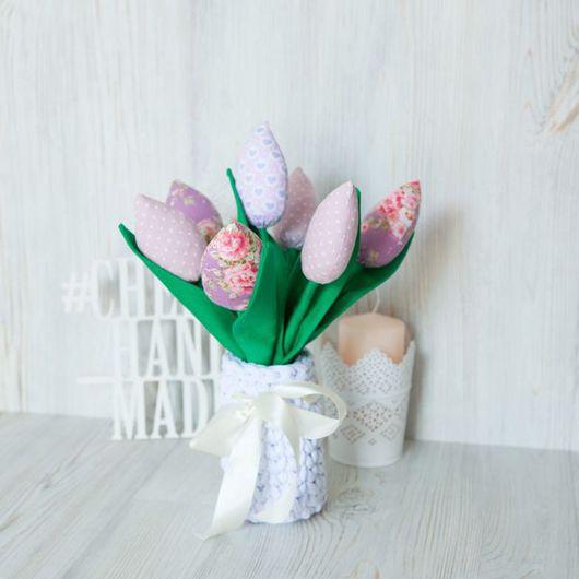 Цветы ручной работы. Ярмарка Мастеров - ручная работа. Купить Тюльпаны в стиле тильда. Handmade. Тюльпаны, зеленый, тильда