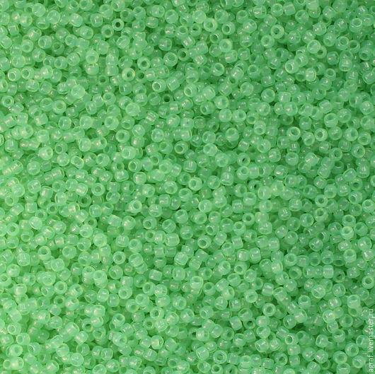 Для украшений ручной работы. Ярмарка Мастеров - ручная работа. Купить Круглый 15/0 TOHO 156 Light Green Opal японский бисер. Handmade.