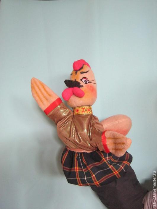 Новый год 2017 ручной работы. Ярмарка Мастеров - ручная работа. Купить Петя Петушок и Курочка. Театральная перчаточная кукла.. Handmade.