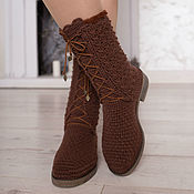 "Обувь ручной работы handmade. Livemaster - original item Winter boots with fur  ""Arina"". Handmade."