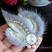 Украшения handmade. Livemaster - original item Frosty morning brooch, brooch fur mink fur brooch. Handmade.