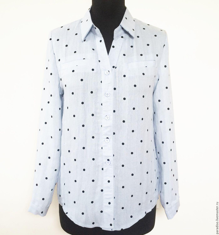 Голубая блузка купить в москве