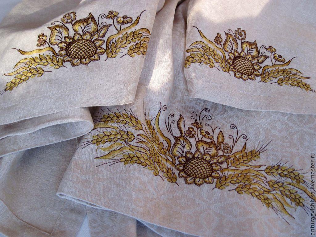 Белорусская вышивка скатерти