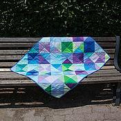 """Для дома и интерьера ручной работы. Ярмарка Мастеров - ручная работа """"Лесной микс"""" детское лоскутное одеяло. Handmade."""