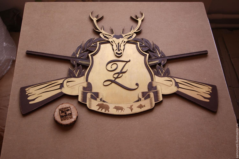 Охотничий герб, Элементы интерьера, Москва,  Фото №1