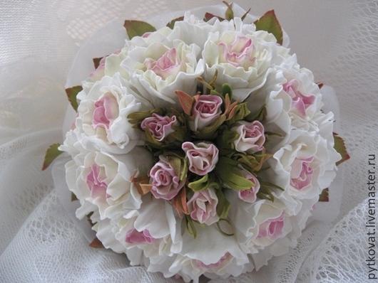 Букеты ручной работы. Ярмарка Мастеров - ручная работа. Купить Букет невесты из фоамирана. Handmade. Бледно-сиреневый, букет роз