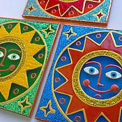 """Сувениры и подарки ручной работы. Ярмарка Мастеров - ручная работа Магнит """"Солнце"""". Handmade."""
