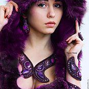 """Украшения ручной работы. Ярмарка Мастеров - ручная работа Витой браслет """"Empire purple"""". Handmade."""