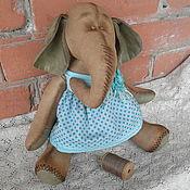 Куклы и игрушки ручной работы. Ярмарка Мастеров - ручная работа Интерьерная слониха, Весенняя. Handmade.