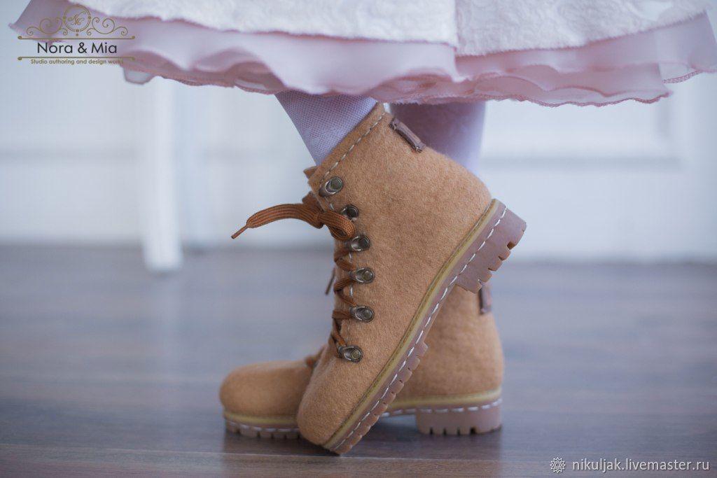 Ботинки для девочек валяные  Цвет Осени, Обувь для детей, Днепр,  Фото №1