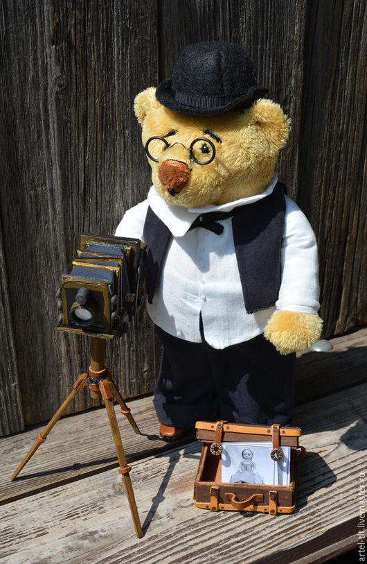"""Коллекционные куклы ручной работы. Ярмарка Мастеров - ручная работа. Купить """"Архимед"""". Handmade. Мишка, интерьерная игрушка, образ"""