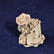 Подарки к праздникам handmade. Livemaster - original item Collector`s thimble rose in Sepia. Handmade.