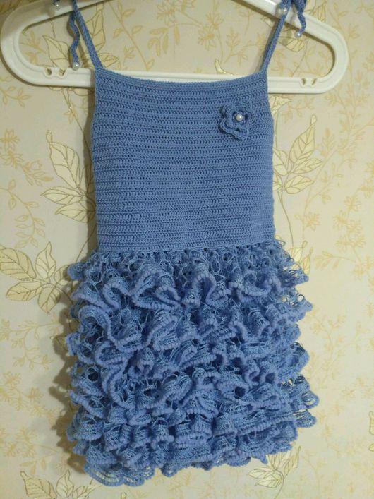 Одежда для девочек, ручной работы. Ярмарка Мастеров - ручная работа. Купить Нарядный, вязанный из хлопка сарафан на девочку. Handmade. Девочка