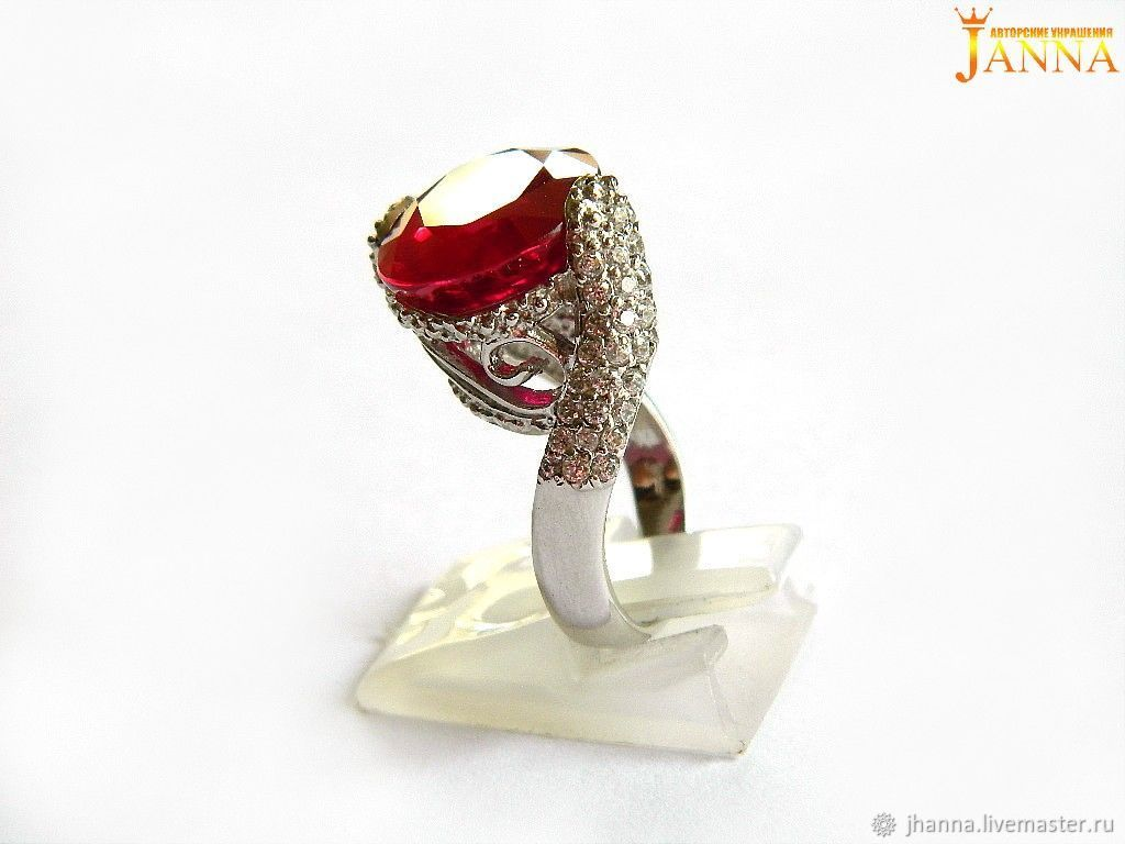 Rubin. ' Payla' ring with ruby 14.15 carats, Rings, Volgograd, Фото №1