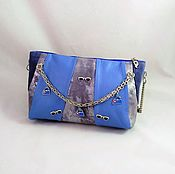 Сумки и аксессуары handmade. Livemaster - original item Bag leather blue