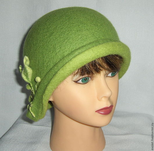 шляпка, шляпка валяная, купить шляпку, авторская шляпка, ручная работа Горбунова Оксана `Evolet`