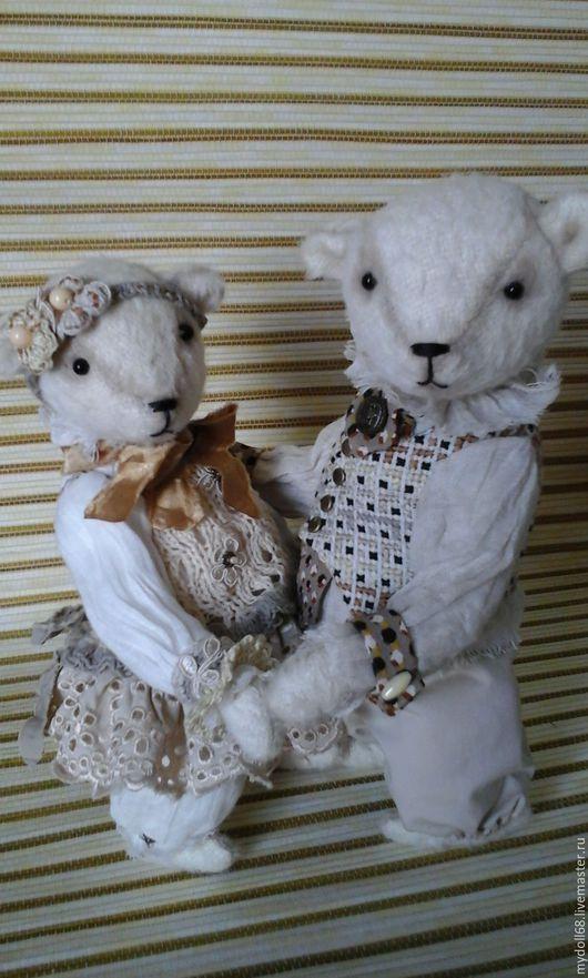 """Игрушки животные, ручной работы. Ярмарка Мастеров - ручная работа. Купить Мишки """"Мы вместе"""". Handmade. Белый, подарок, мишка"""