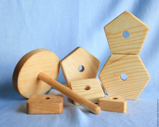 Развивающие игрушки ручной работы. Ярмарка Мастеров - ручная работа. Купить Пирамидка деревянная. Handmade. Пирамидка, детская игрушка, дерево