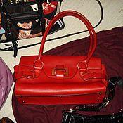 NEW Жен сумка Ferragamo кожаная красная из