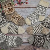 Аксессуары handmade. Livemaster - original item Socks down with ornament. Handmade.