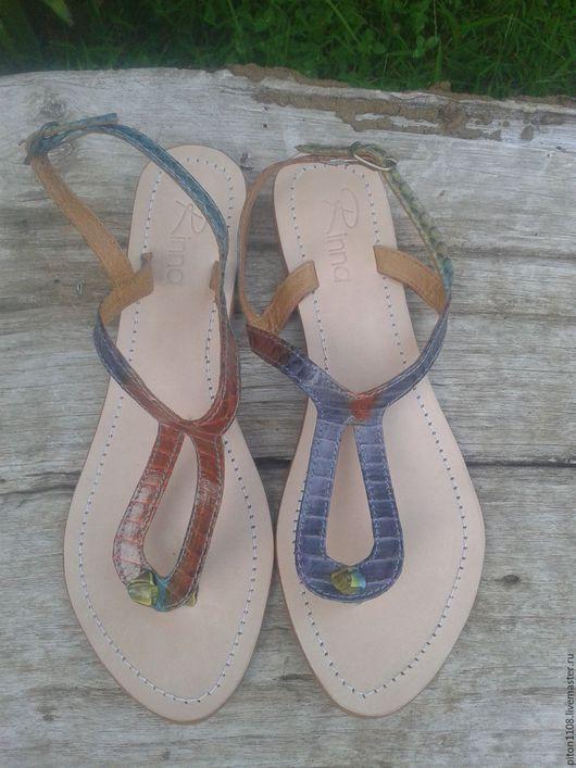 Обувь ручной работы. Ярмарка Мастеров - ручная работа. Купить Сандалии из кожи змеи. Handmade. Сандалии, сандалии ручной работы