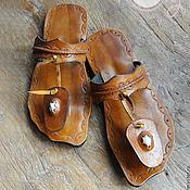 """Обувь ручной работы. Ярмарка Мастеров - ручная работа Оригинальные кожаные сандалии """"Asian Beauty"""". Handmade."""