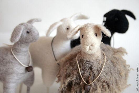 Миниатюра ручной работы. Ярмарка Мастеров - ручная работа. Купить Валяные барашки и овечки  всякие и разные, кудрявые и гладкошерстные. Handmade.