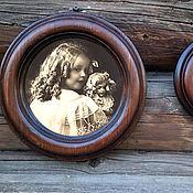 Сувениры и подарки ручной работы. Ярмарка Мастеров - ручная работа Фоторамка круглая большая Рамка деревянная. Handmade.