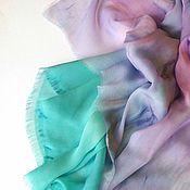 Аксессуары ручной работы. Ярмарка Мастеров - ручная работа Шарф Фиолетовый изумруд батик. Handmade.