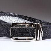 Аксессуары handmade. Livemaster - original item A leather belt Stingray IMC3001B. Handmade.