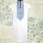 Одежда ручной работы. Ярмарка Мастеров - ручная работа Платье вышиванка АННУШКА Летние платья Платья из льна Платье футляр. Handmade.